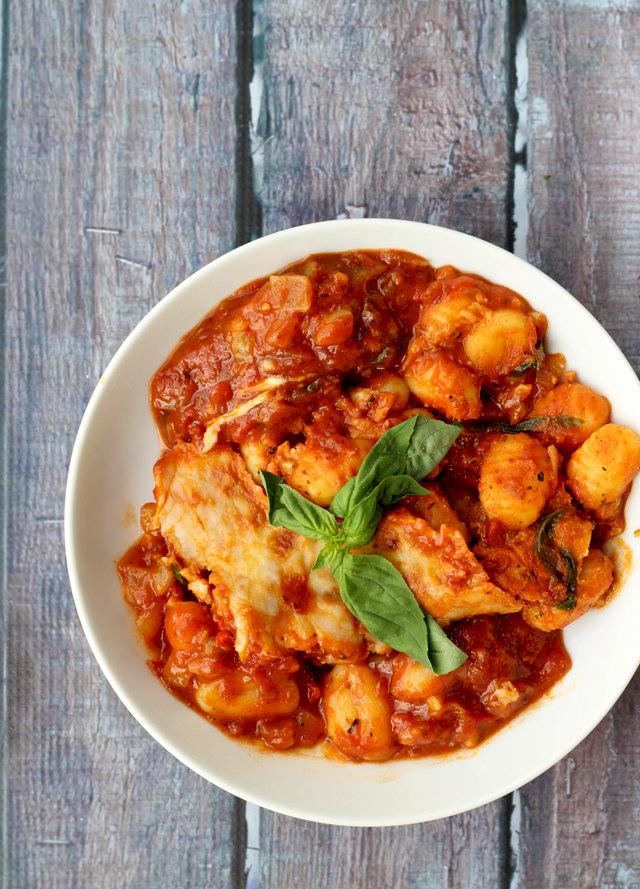 tomato-basil gnocchi gratin