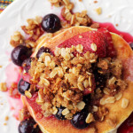 Berry Crisp Lemon Ricotta Pancakes