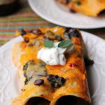Black Bean and Kale Enchiladas with Ranchero Sauce