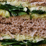 Roasted Zucchini, Garlic and Basil Hummus Sandwiches