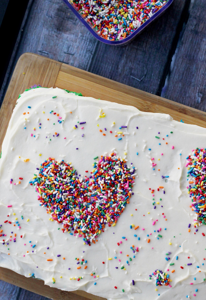 the lovers, the dreamers and you rainbow cake
