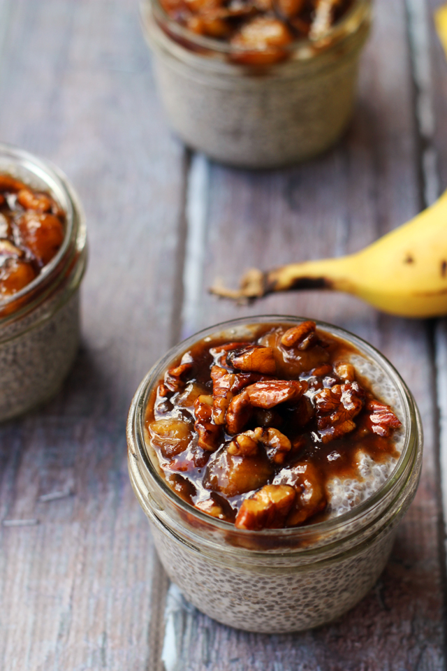 Bananas Foster Chia Pudding