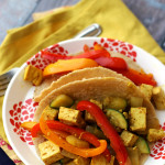 Curried Tofu Scramble Tacos