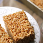Salted Caramel Brown Butter Rice Krispie Treats