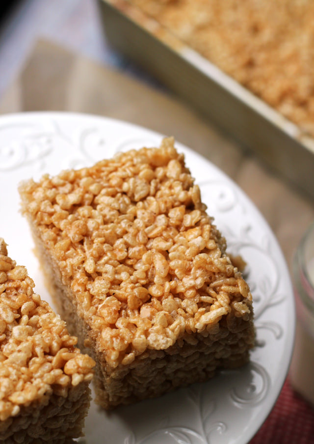 Salted Brown Butter Crispy Treats Recipe — Dishmaps