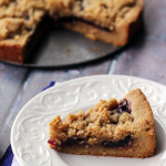 Peanut Butter and Jelly Linzer Torte
