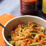 Spicy Thai Peanut Vegetable Curry Noodles