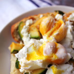 zucchini and goat cheese breakfast crostini
