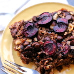 Chocolate-Covered Cherry Baked Oatmeal