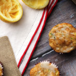 spiced zucchini olive oil muffins with lemon glaze