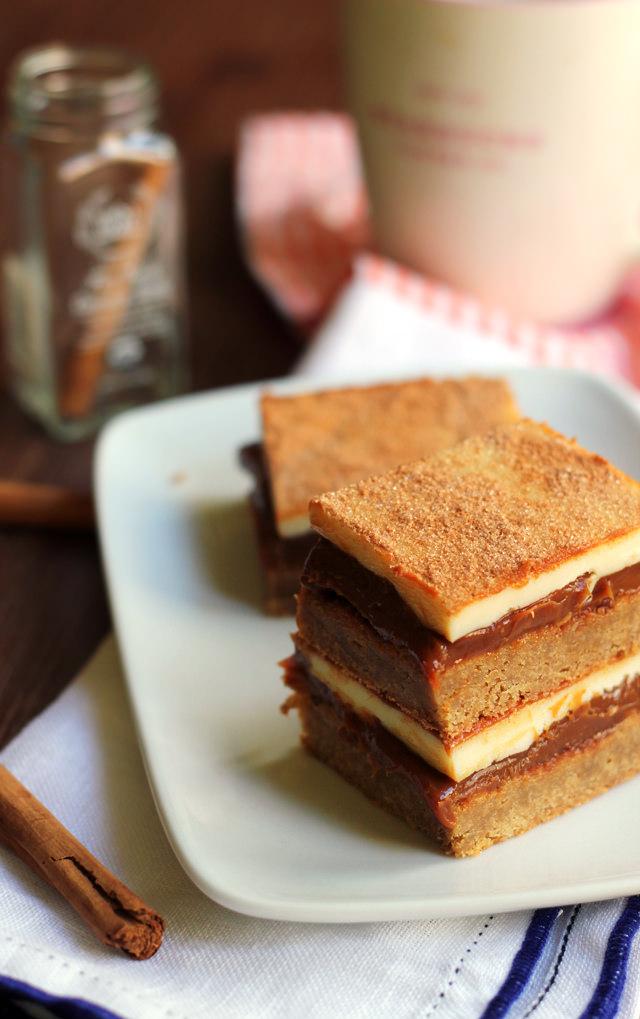 dulce de leche snickerdoodle bars