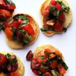 Mini Cornmeal Cakes with Heirloom Tomato Relish