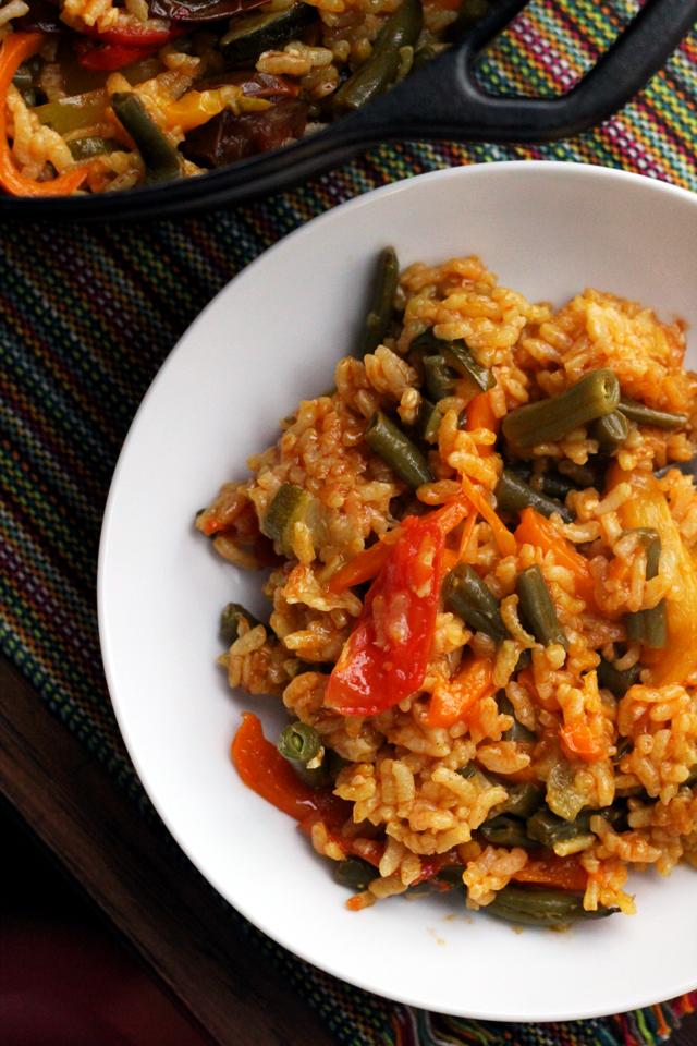 how to make vegetarian paella recipe