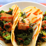 Tofu, Broccoli, and Kale Teriyaki Tacos