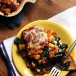 Chipotle Butternut Squash and Swiss Chard Enchilada Casserole