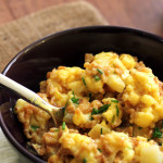 Cheesy Farro and Cauliflower Risotto