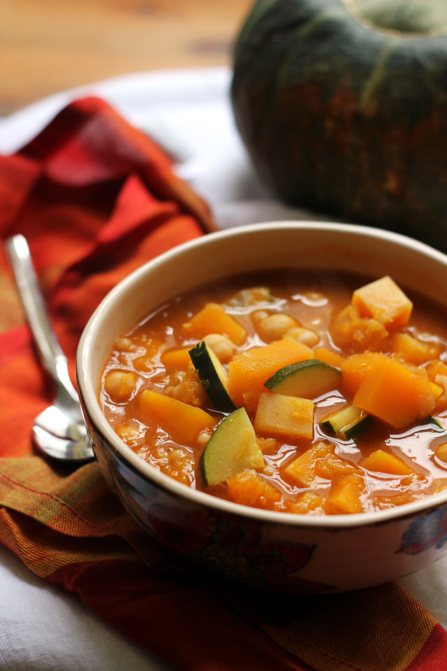 moroccan chickpea and butternut squash soup