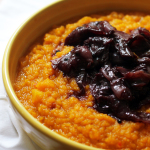 Root Vegetable Mash with Wine-Braised Shallots
