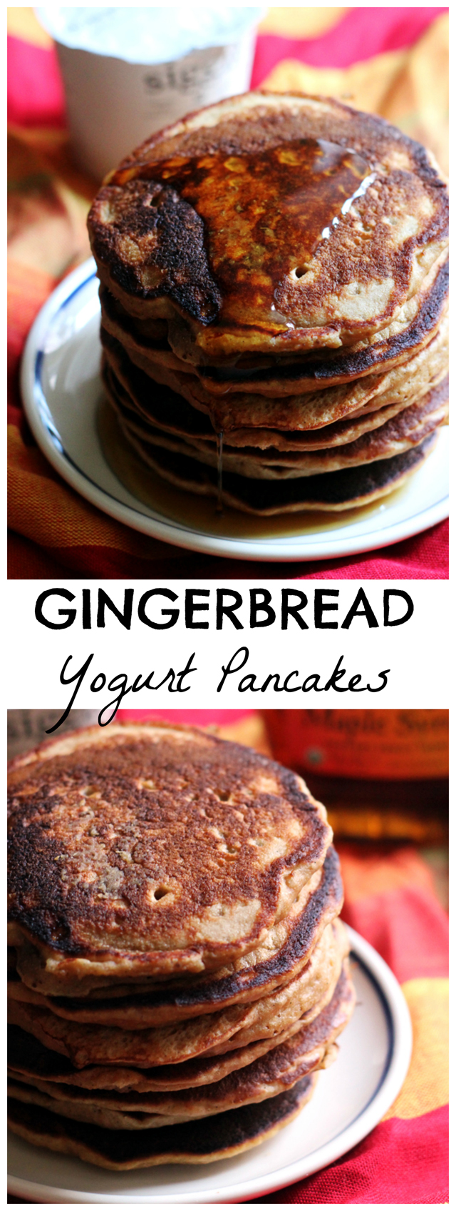 gingerbread yogurt pancakes