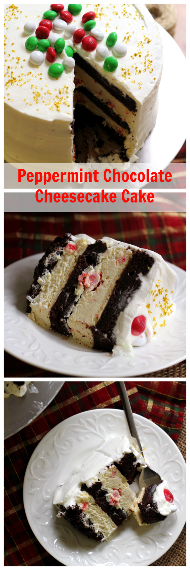 peppermint chocolate cheesecake cake