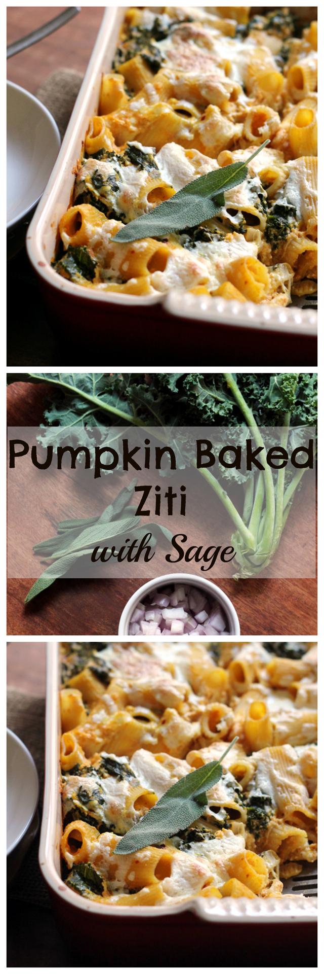 pumpkin baked ziti with sage