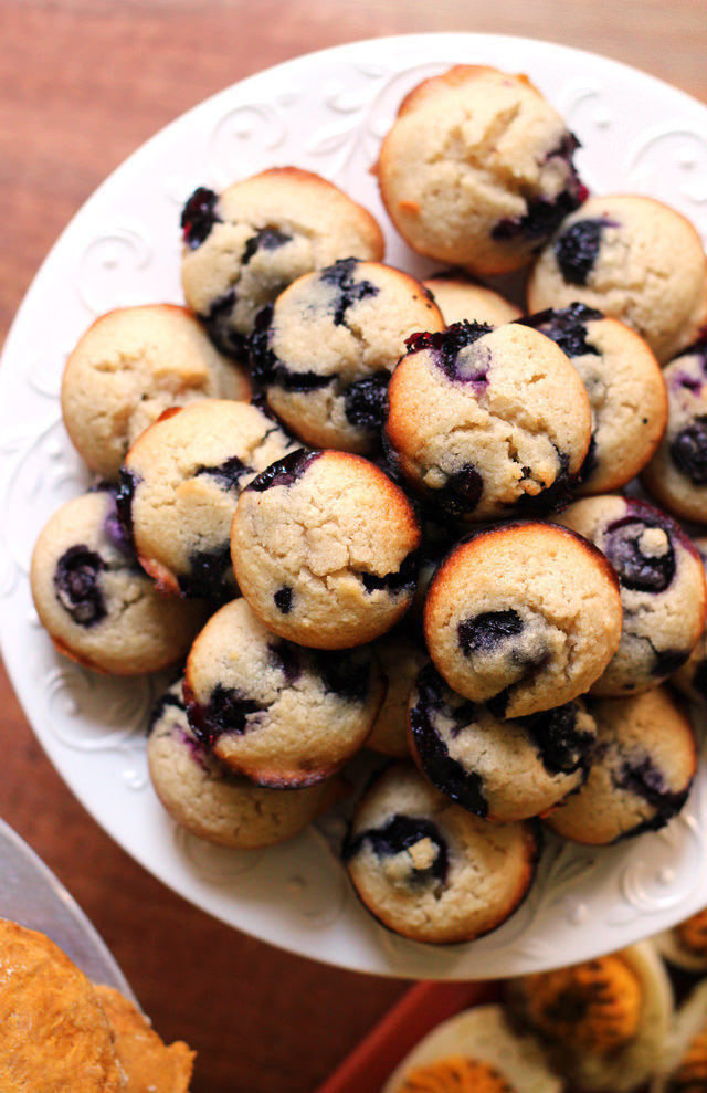 brown butter blueberry almond tea cakes