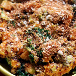 cardamom-spiced butternut squash and kale gratin