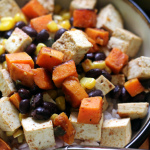 Tofu, Sweet Potato, and Black Bean Vegetarian Burrito Bowls