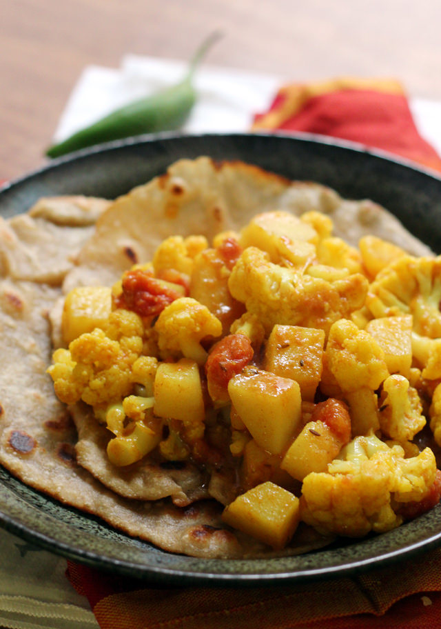 Aloo gobi is a richly spiced traditional Indian dish, made with a ...