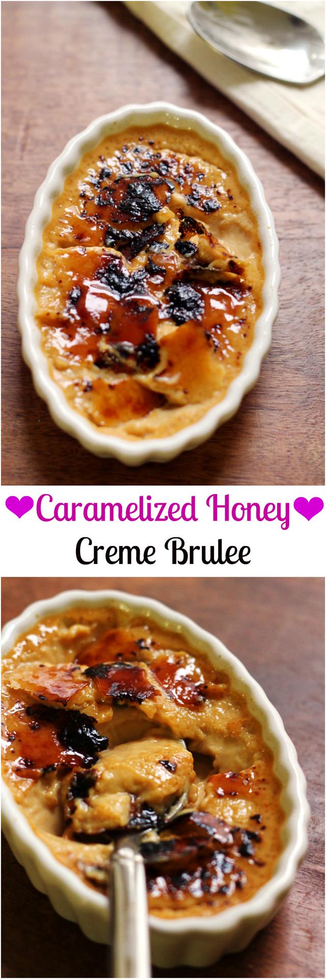 caramelized honey creme brulee