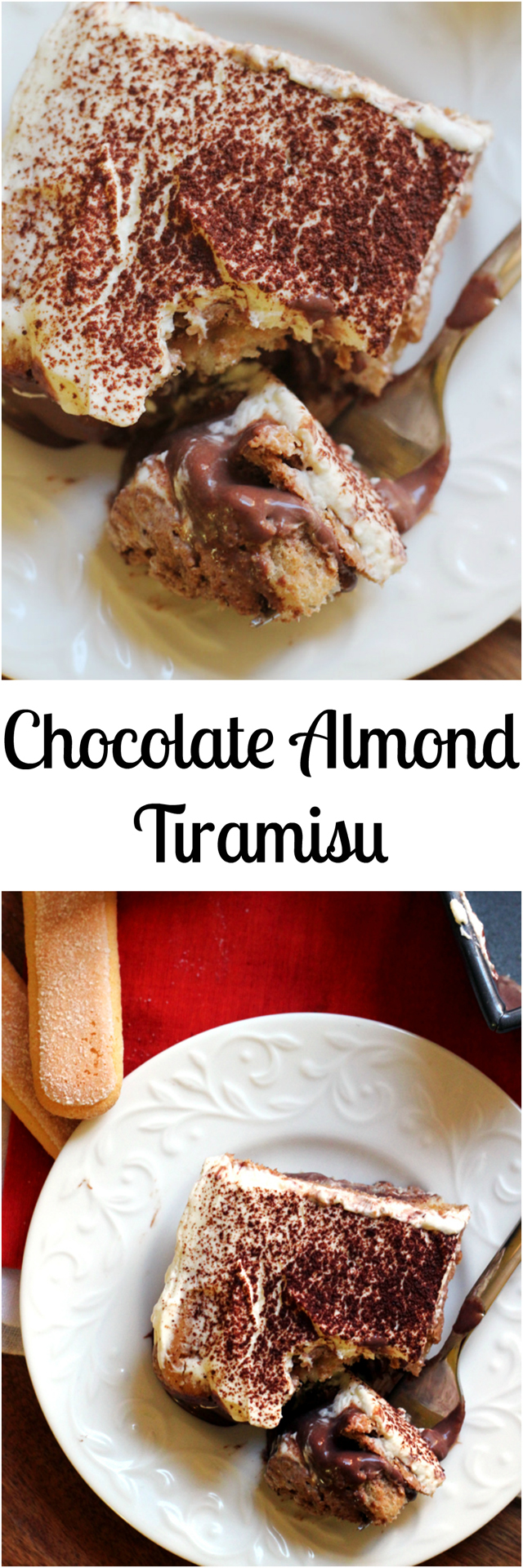 chocolate almond tiramisu