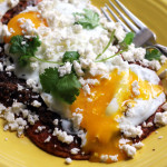 huevos rancheros with salsa roja
