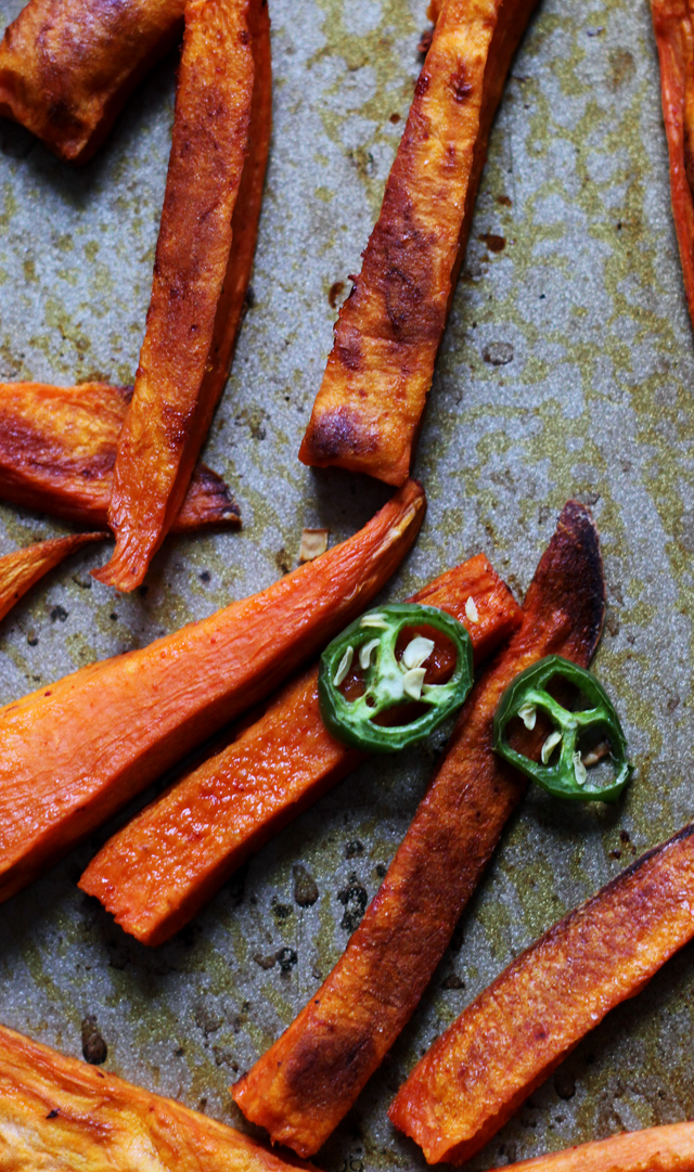 spicy jalapeno sweet potato fries