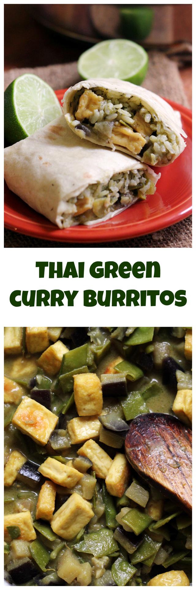 thai green curry burritos