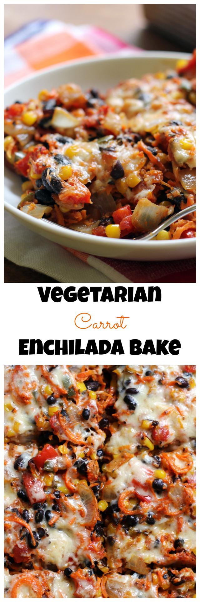 Vegetarian Carrot Enchilada Bake