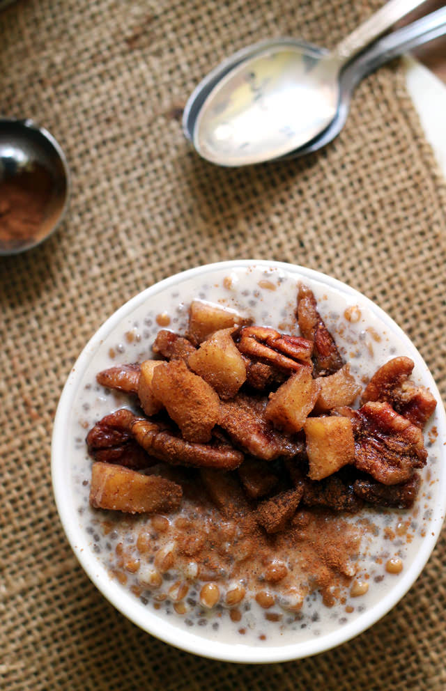 caramel apple pie wheat berry porridge