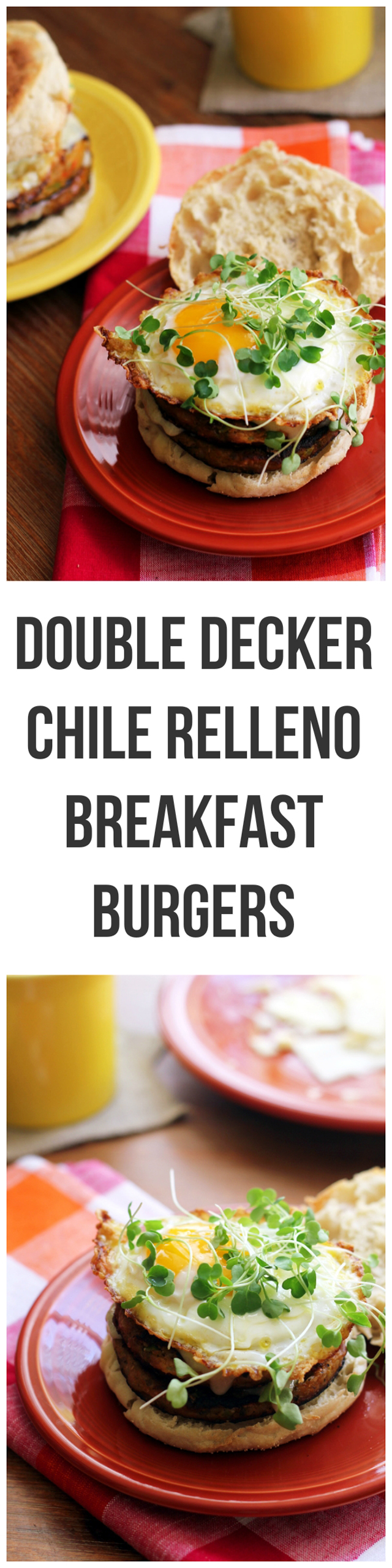 double decker chile relleno breakfast burgers