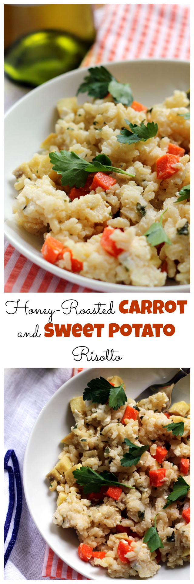 honey-roasted carrot and sweet potato risotto