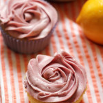 Meyer Lemon Cupcakes with Raspberry Buttercream