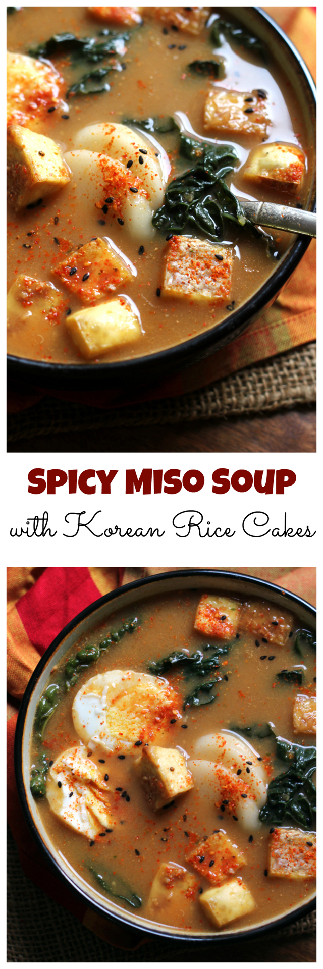 Spicy Miso Soup with Korean Rice Cakes