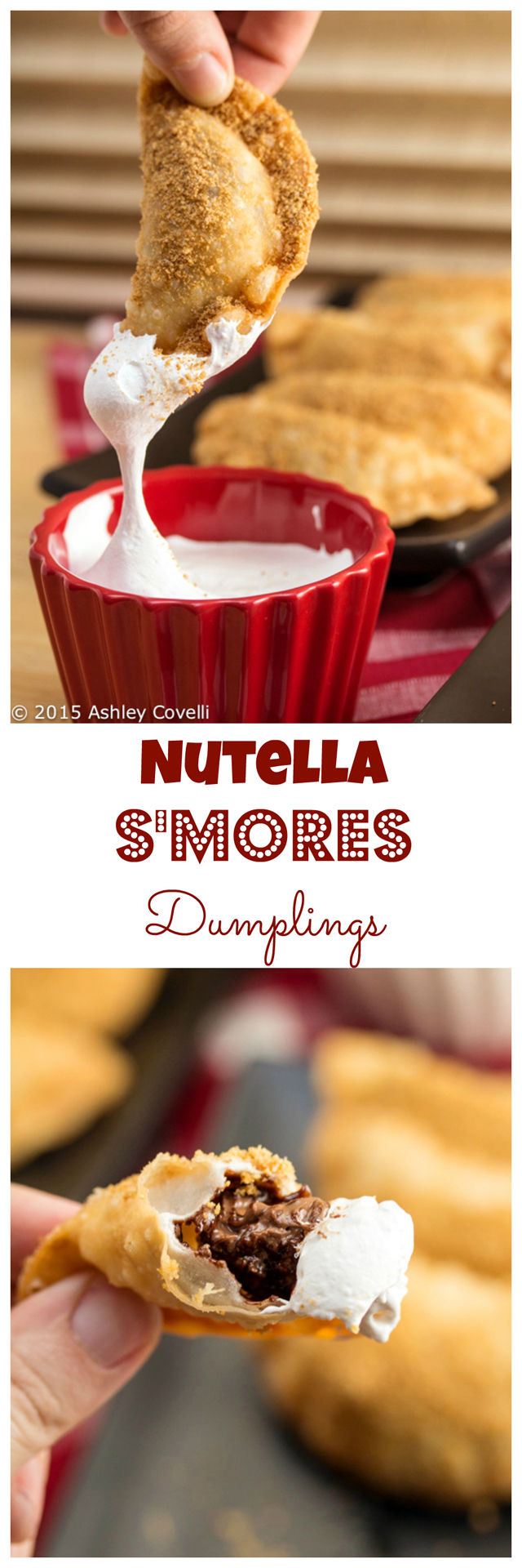 nutella s'mores dumplings