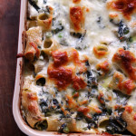 spring vegetable rigatoni bake