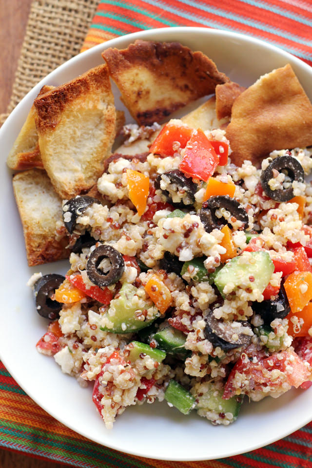 Greek Super Grains Salad - Mediterranean Diet Recipe
