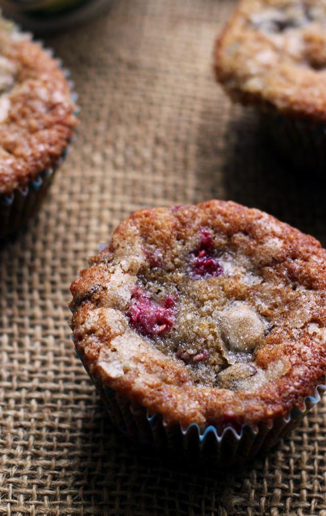 raspberry espresso chocolate chunk muffins