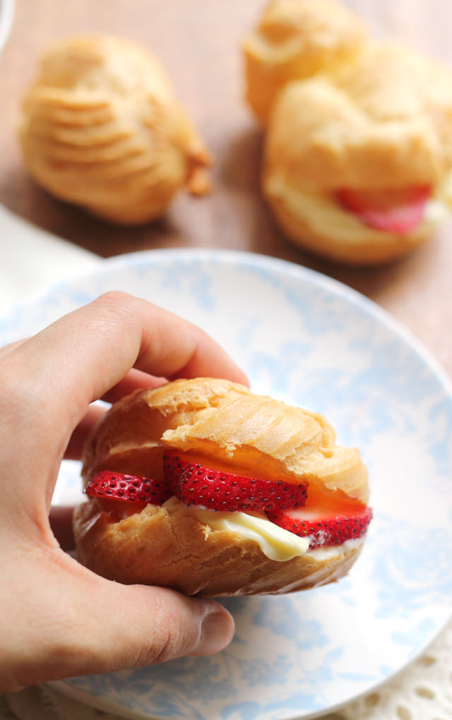 strawberry shortcake cream puffs