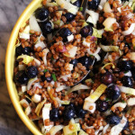 Wheat Berry Salad with Blueberries and Goat Cheese