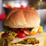 falafel burgers with pepperoncini salsa