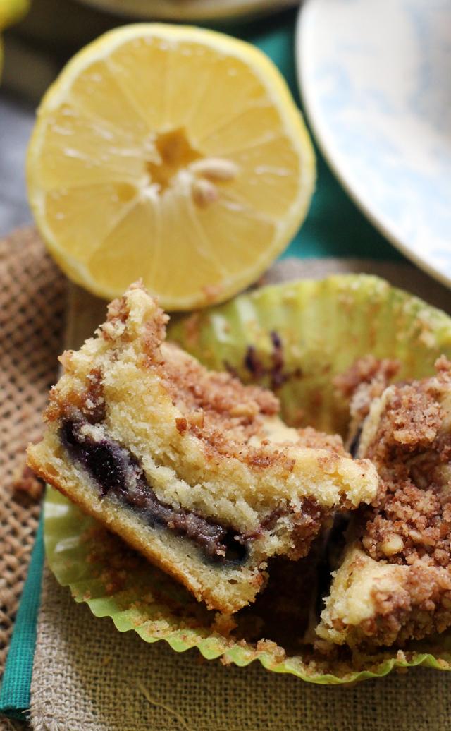 lemon blueberry sour cream coffee cake muffins