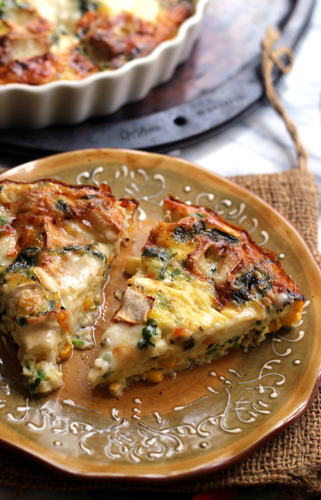 Corn, Jalapeno, and Brie Frittata | Joanne Eats Well With ...