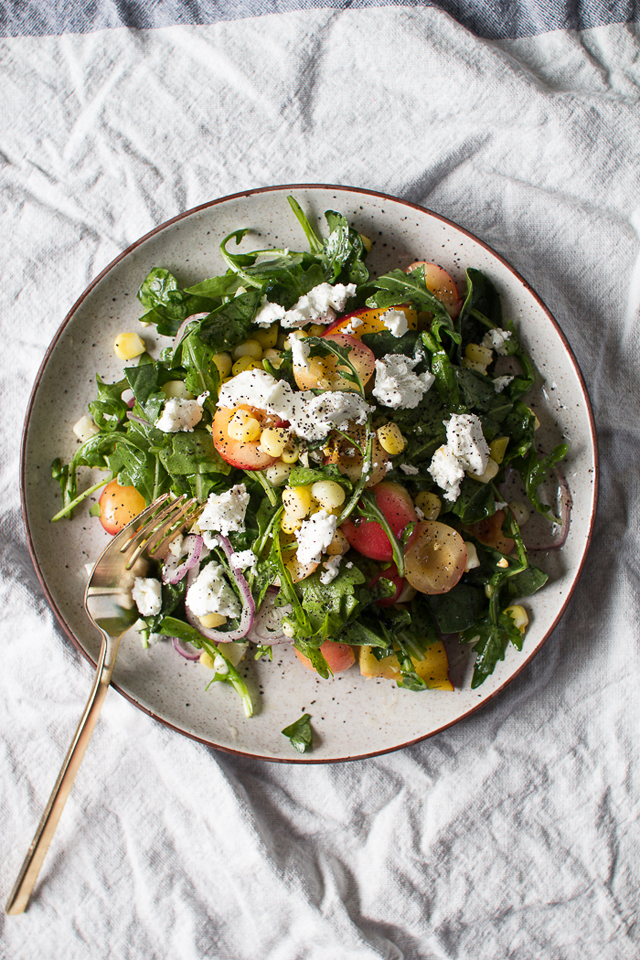 Flourishing Foodie Peach Salad